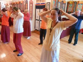 Students practising Classical Medical Qigong