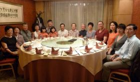 Ven Lama Dondrup Dorje with family, friends and students in Shanghai