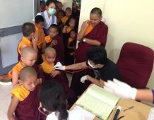 Health screening on little monks
