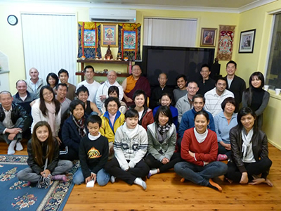 Lama Dondrup Dorje with students from Sydney